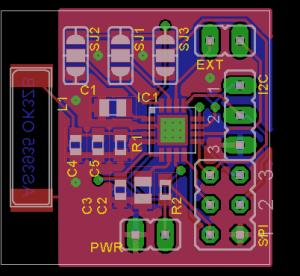 Franklin Lighting Sensor - pcb