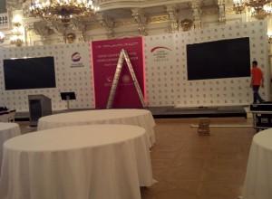 Konference CIF Pražský hrad 2014 - Instalace pódia