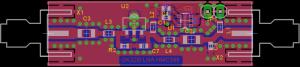 LNA - HMC599 - pcb