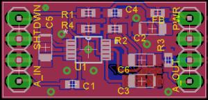 Deska plošného spoje mikrofonního kompresoru