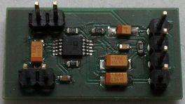 Vyrobený mikrofonní kompresor (předchozí verze 26 x 14 mm)