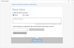 Windows Feedback - nový názor