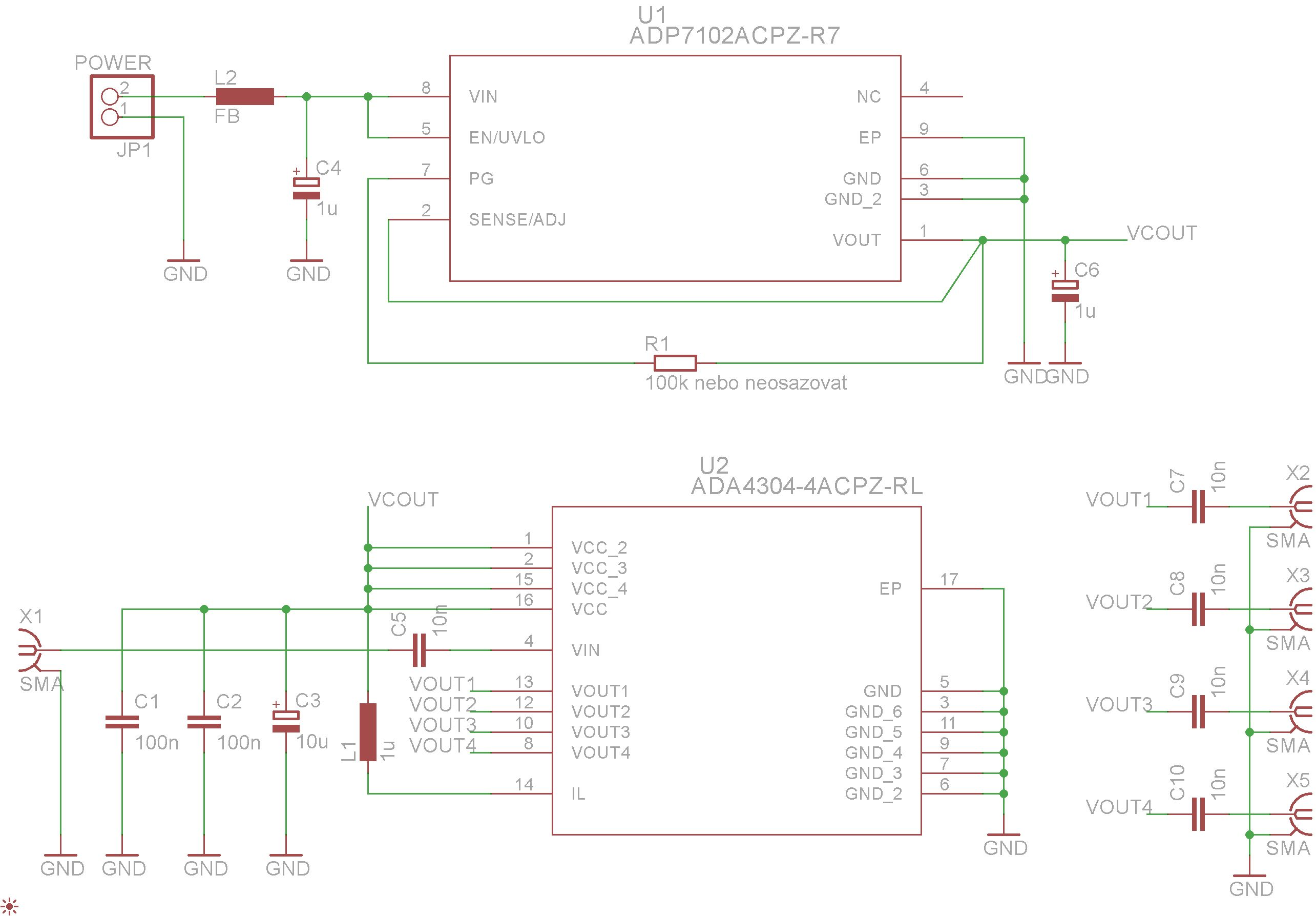 CATV Active Splitter - Schematic