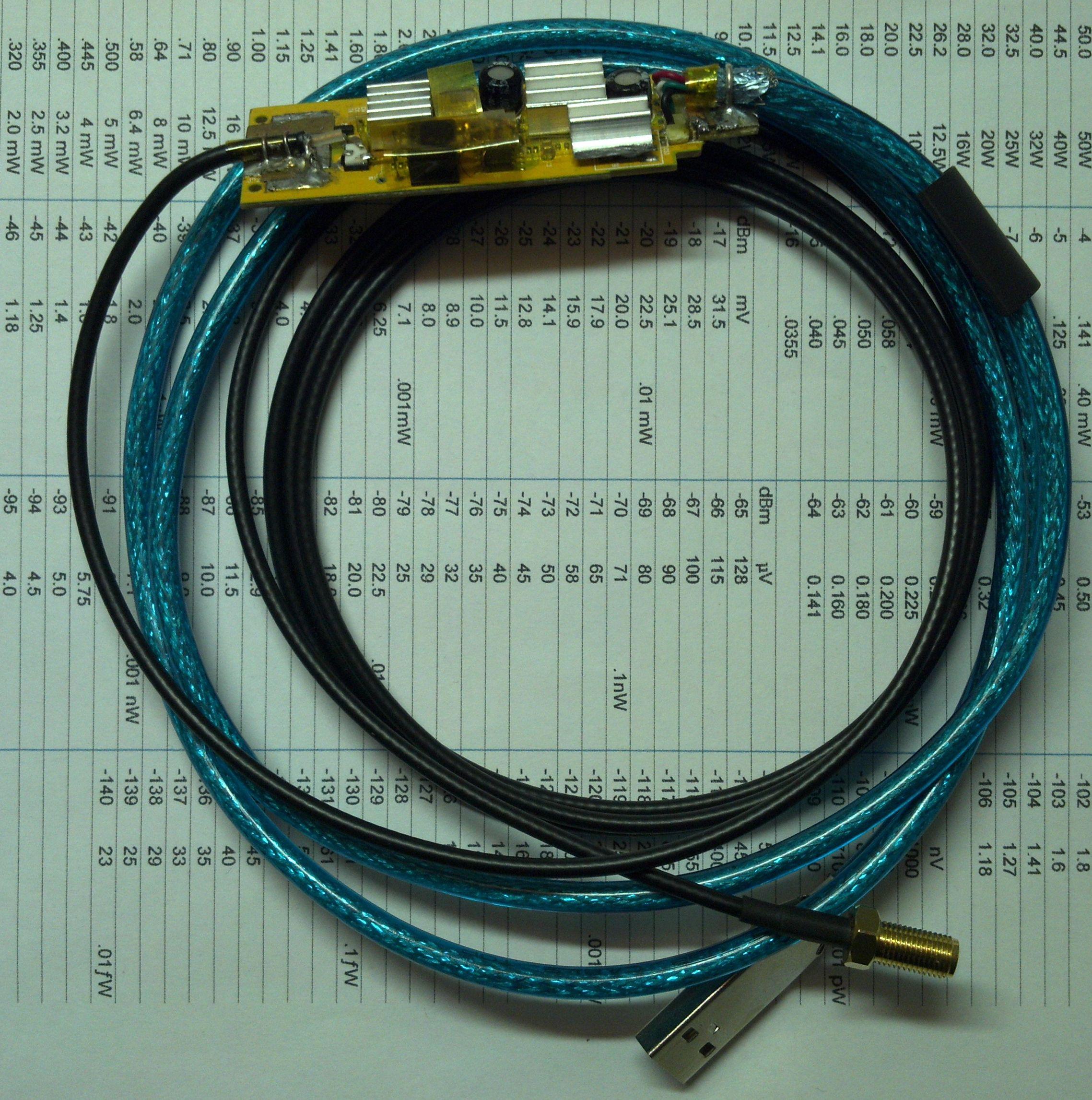 Upraveny SDR prijimac s RTL2832U a R820T - celkovy pohled